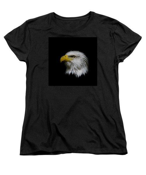 Eagle Head Women's T-Shirt (Standard Cut) by Steve McKinzie