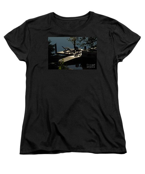 Early Morning At The Lake Women's T-Shirt (Standard Cut) by Cindy Manero