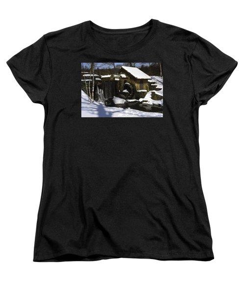 Eastern University Waterwheel Historic Place Women's T-Shirt (Standard Cut) by Sally Weigand