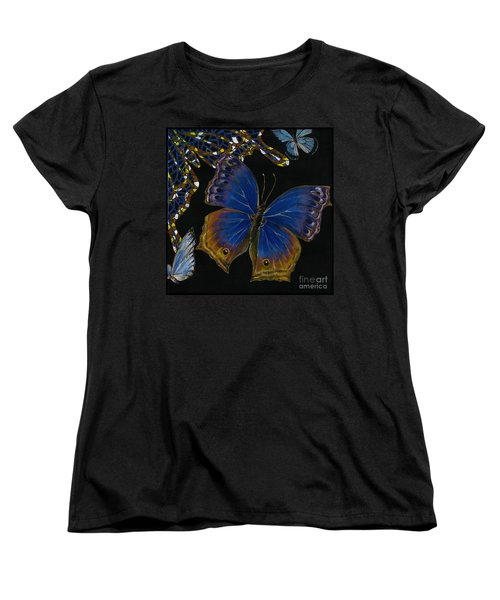 Elena Yakubovich - Butterfly 2x2 Lower Right Corner Women's T-Shirt (Standard Cut) by Elena Yakubovich