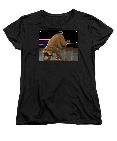 Women's T-Shirt (Standard Cut) featuring the photograph Elephant Perfomance At Circus by Susan Leggett