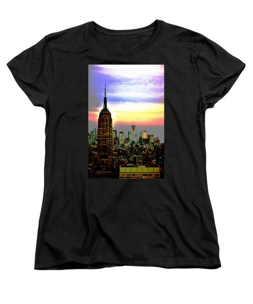 Empire State Building4 Women's T-Shirt (Standard Cut) by Zawhaus Photography