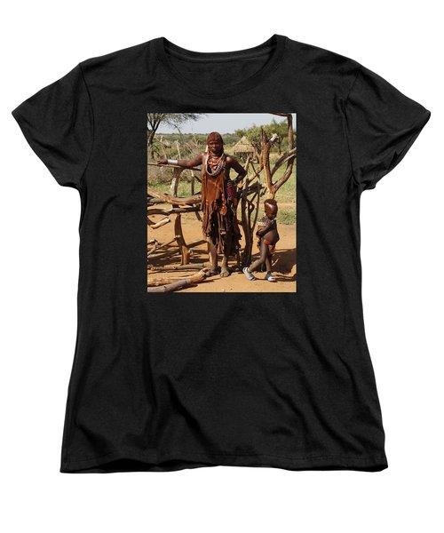 Ethiopia-south Mother And Baby No.2 Detail B Women's T-Shirt (Standard Cut) by Robert SORENSEN