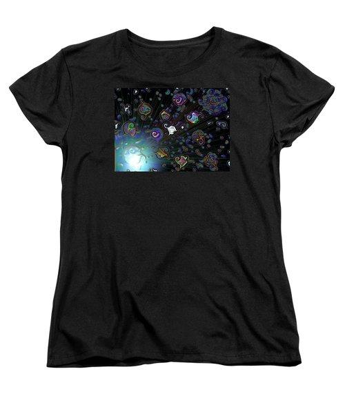 Exploding Star Women's T-Shirt (Standard Cut) by Alec Drake