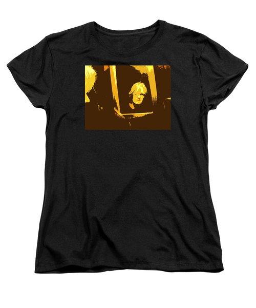 Face In The Mirror Women's T-Shirt (Standard Cut) by Anne Mott