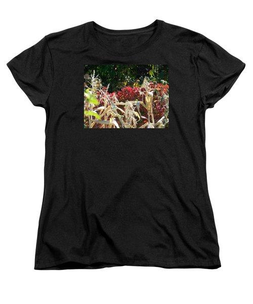 Fall Harvest Of Color Women's T-Shirt (Standard Cut) by Dorrene BrownButterfield