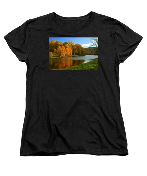 Fall In New York State Women's T-Shirt (Standard Cut) by Mark Gilman
