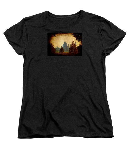 Women's T-Shirt (Standard Cut) featuring the photograph Fall In The City by Milena Ilieva