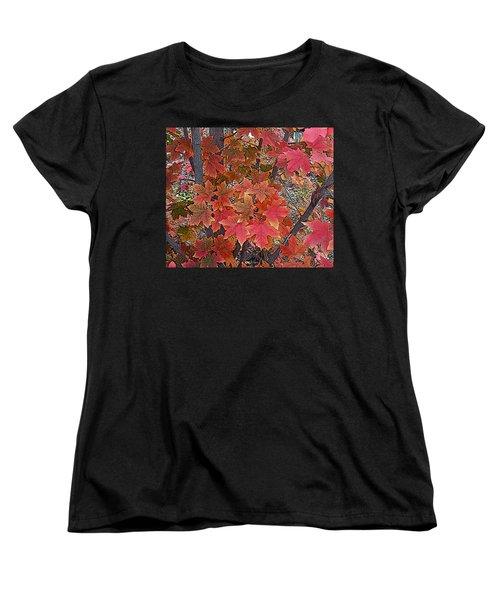 Fall Red Women's T-Shirt (Standard Cut) by David Pantuso