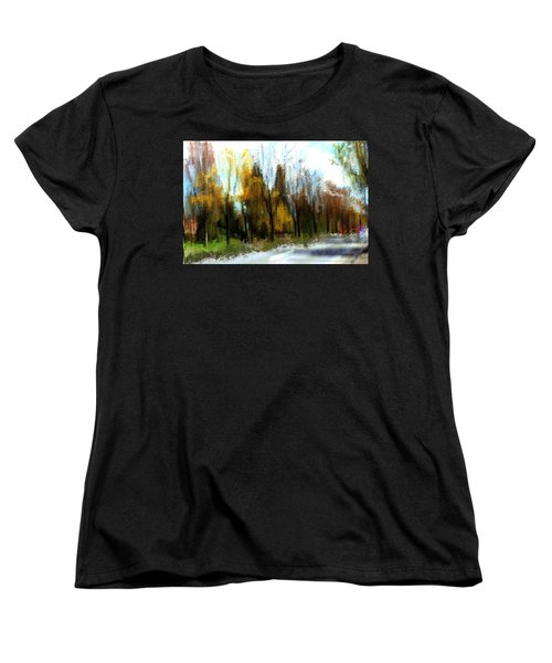 Women's T-Shirt (Standard Cut) featuring the mixed media Farmington by Terence Morrissey