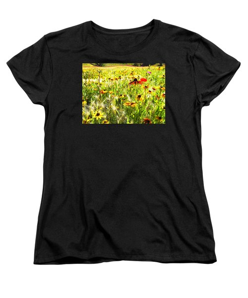 Field Of Bright Colorful Wildflowers Women's T-Shirt (Standard Cut)
