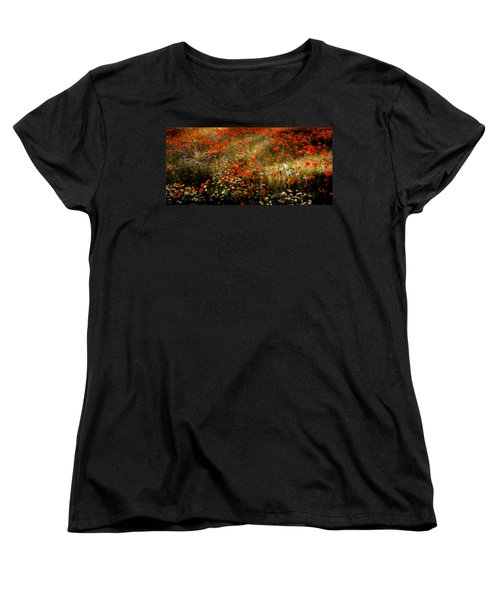 Field Of Wildflowers Women's T-Shirt (Standard Cut) by Ellen Heaverlo