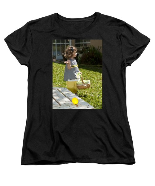 Women's T-Shirt (Standard Cut) featuring the photograph First Easter Egg Hunt by Steven Sparks