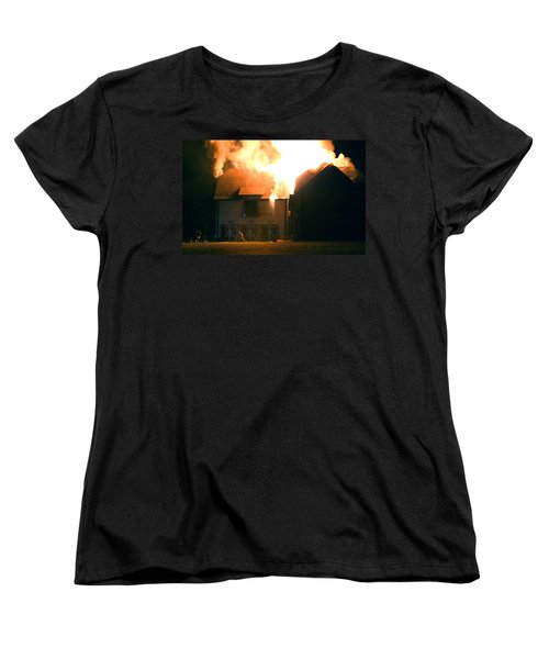 Women's T-Shirt (Standard Cut) featuring the photograph First Responders by Daniel Reed