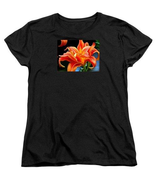 Flaming Flower Women's T-Shirt (Standard Cut) by Patricia Griffin Brett