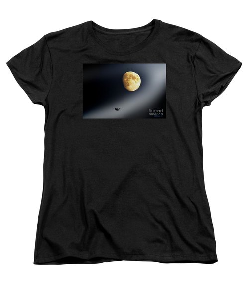 Fly Me To The Moon Women's T-Shirt (Standard Cut) by Kevin J McGraw