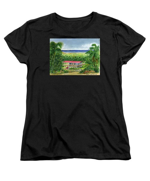 Foothills Of El Yunque Puerto Rico Women's T-Shirt (Standard Cut) by Frank Hunter