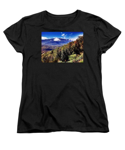 Women's T-Shirt (Standard Cut) featuring the photograph Foothills Parkway Tennessee by Janice Spivey