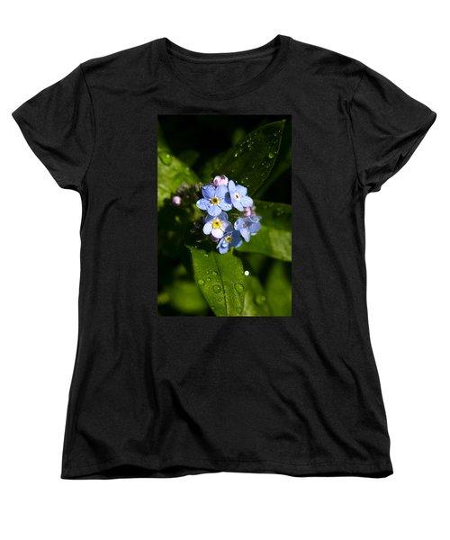 Forget Me Not Women's T-Shirt (Standard Cut) by Ralph A  Ledergerber-Photography