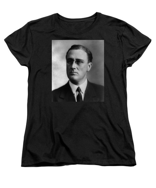 Women's T-Shirt (Standard Cut) featuring the photograph Franklin Delano Roosevelt by International  Images