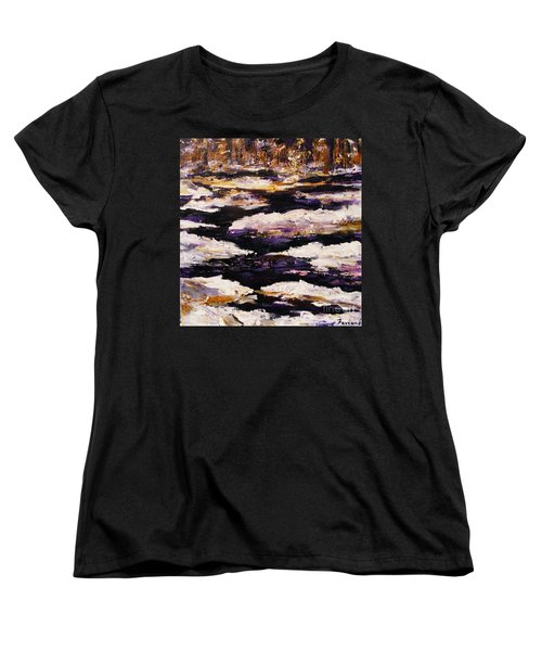 Frozen River Women's T-Shirt (Standard Cut) by Karen  Ferrand Carroll
