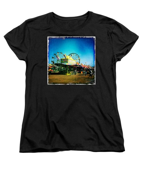 Women's T-Shirt (Standard Cut) featuring the photograph Fun At The Fair by Nina Prommer