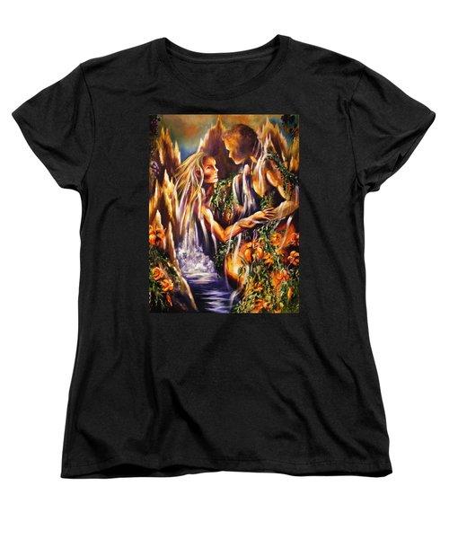 Garden Of Earthly Delights Women's T-Shirt (Standard Cut) by Karen  Ferrand Carroll