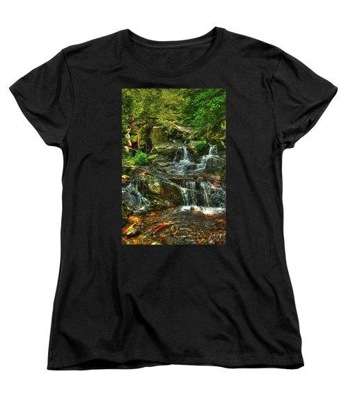 Gentle Falls Women's T-Shirt (Standard Cut) by Dan Stone