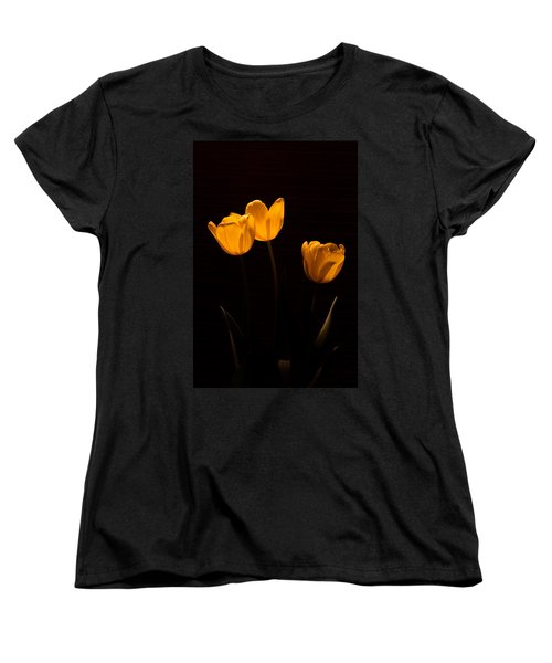Women's T-Shirt (Standard Cut) featuring the photograph Glowing Tulips by Ed Gleichman