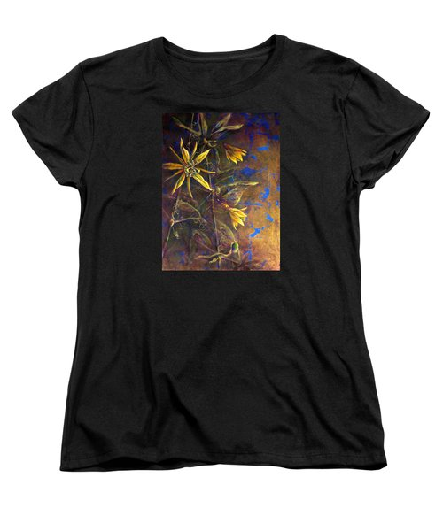 Gold Passions Women's T-Shirt (Standard Cut) by Ashley Kujan