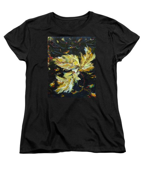 Women's T-Shirt (Standard Cut) featuring the painting Golden Flight by Judith Rhue