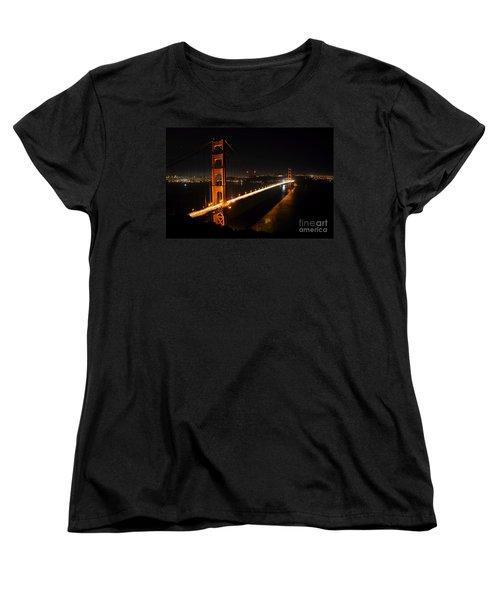 Women's T-Shirt (Standard Cut) featuring the photograph Golden Gate Bridge 2 by Vivian Christopher