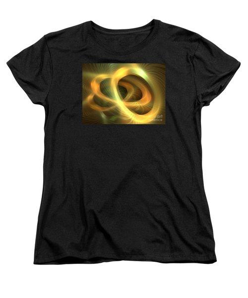 Golden Rings Women's T-Shirt (Standard Cut) by Kim Sy Ok