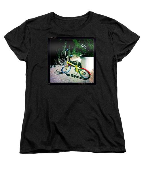 Women's T-Shirt (Standard Cut) featuring the photograph Google Mini Bike by Nina Prommer