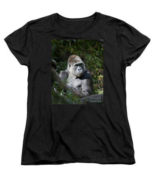 Gorilla Women's T-Shirt (Standard Cut) by Chris Dutton