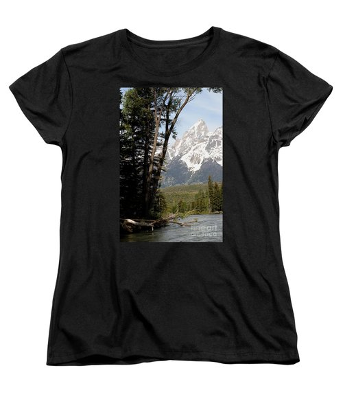 Grand Tetons Vertical Women's T-Shirt (Standard Cut) by Living Color Photography Lorraine Lynch