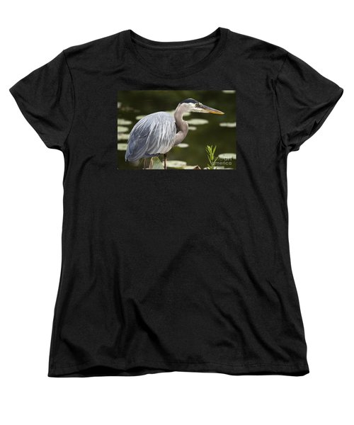 Women's T-Shirt (Standard Cut) featuring the photograph Great Blue Heron  by Jeannette Hunt