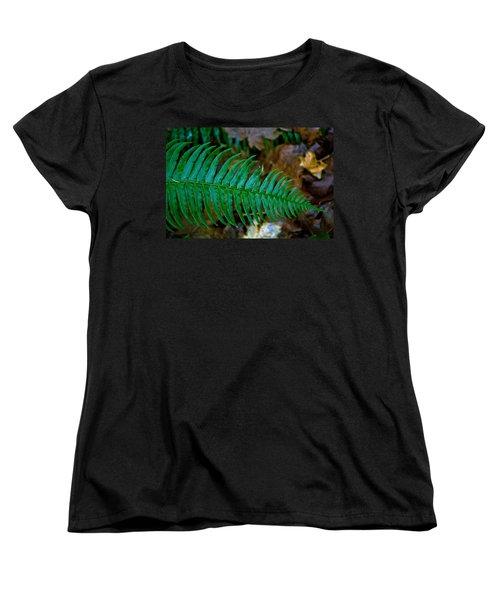 Green Fern Women's T-Shirt (Standard Cut) by Tikvah's Hope