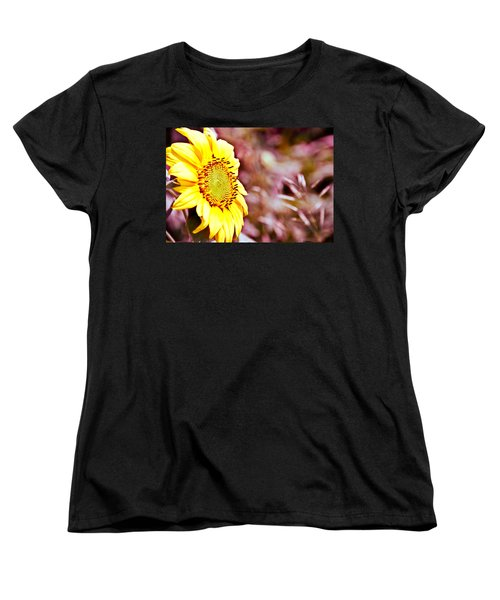 Women's T-Shirt (Standard Cut) featuring the photograph Greeting The Sun. by Cheryl Baxter