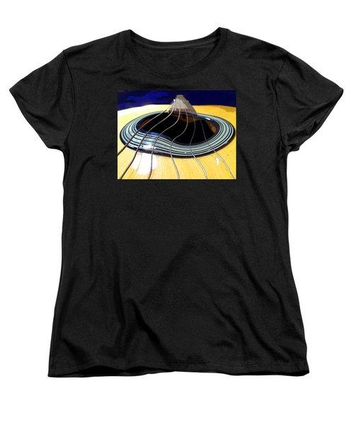 Guitar Warp Women's T-Shirt (Standard Cut) by Anne Mott