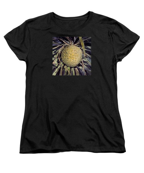 Women's T-Shirt (Standard Cut) featuring the painting Hala Fruit by Andrew Drozdowicz