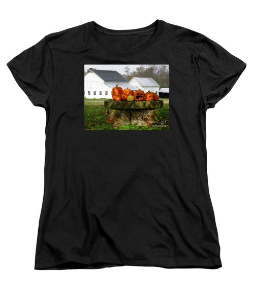 Women's T-Shirt (Standard Cut) featuring the photograph Halloween Scene by Lainie Wrightson