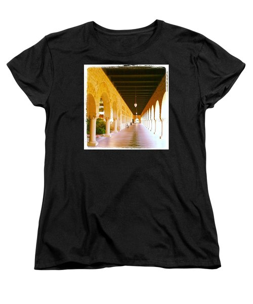 Halls Of Learning - Stanford University Women's T-Shirt (Standard Cut) by Anna Porter