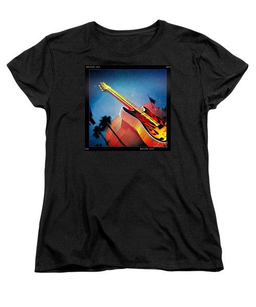 Women's T-Shirt (Standard Cut) featuring the photograph Hard Rock Guitar by Nina Prommer