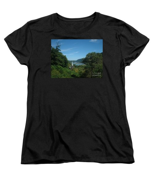 Harper's Ferry Long View Women's T-Shirt (Standard Cut) by Mark Robbins