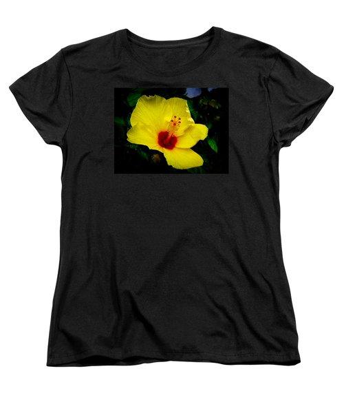 Women's T-Shirt (Standard Cut) featuring the photograph Hawaiian Yellow Hibiscus by Athena Mckinzie