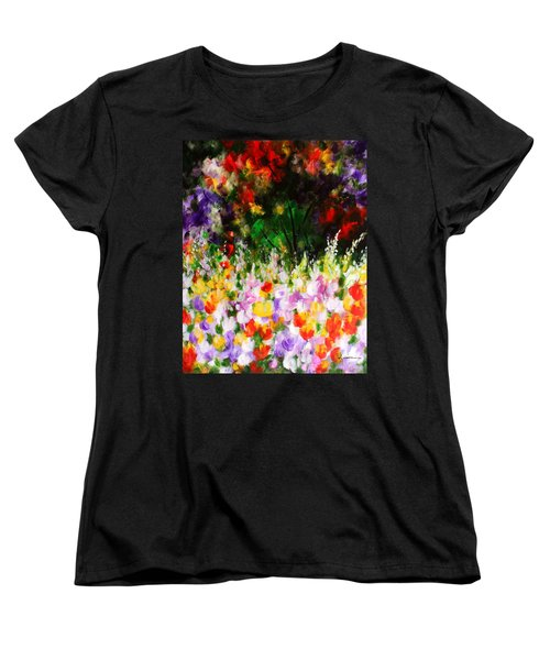 Women's T-Shirt (Standard Cut) featuring the painting Heavenly Garden by Kume Bryant