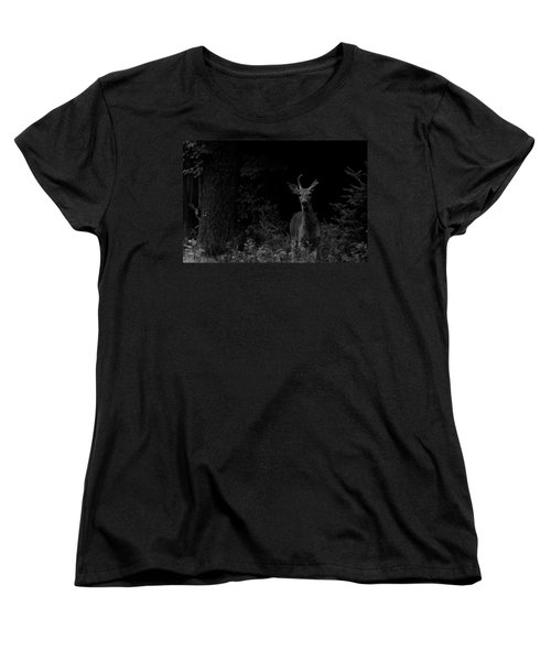 Women's T-Shirt (Standard Cut) featuring the photograph Hello Deer by Cheryl Baxter