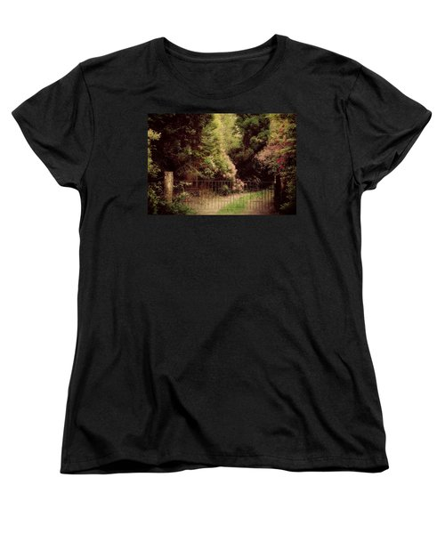 Women's T-Shirt (Standard Cut) featuring the photograph Hidden Garden by Marilyn Wilson