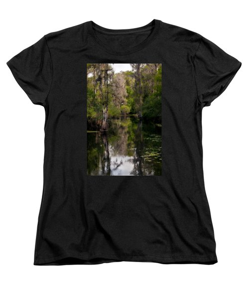 Women's T-Shirt (Standard Cut) featuring the photograph Hillsborough River In March by Steven Sparks
